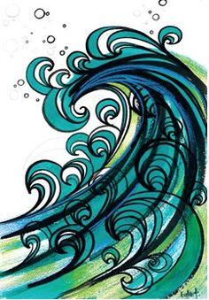 Drawn sea ocean wave More ocean on Wave waves