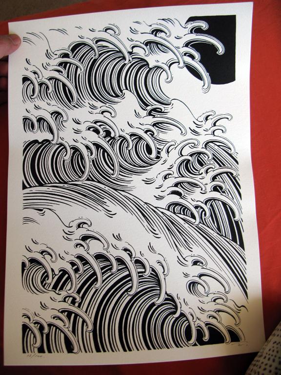 Drawn wave Japanese japanese tattoo  waves