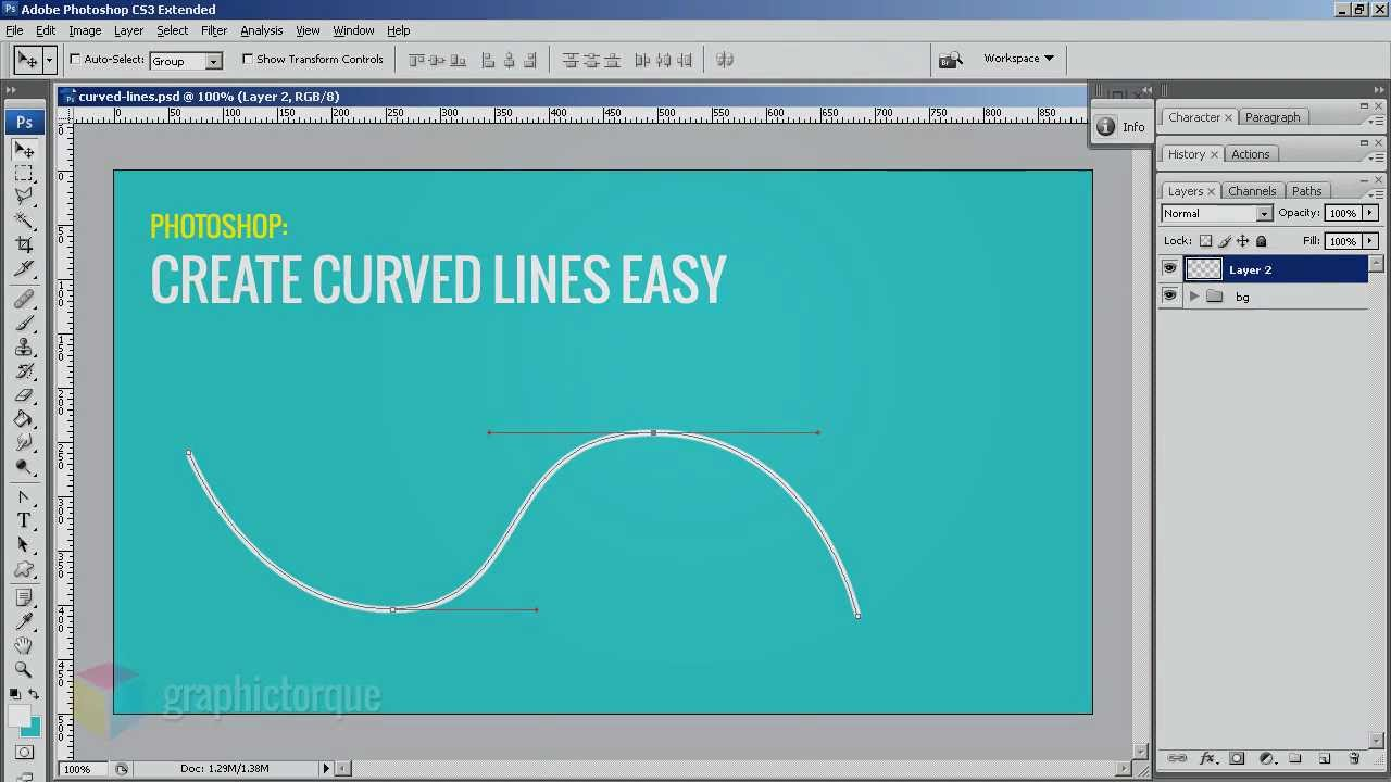 Drawn road curved shape  Photoshop Lines YouTube Curved