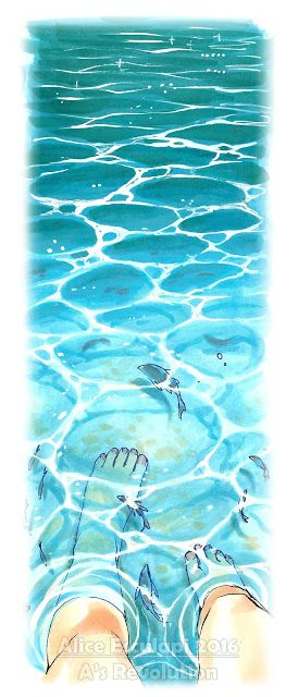 Drawn sea water surface How 2 to Tutorial: ideas