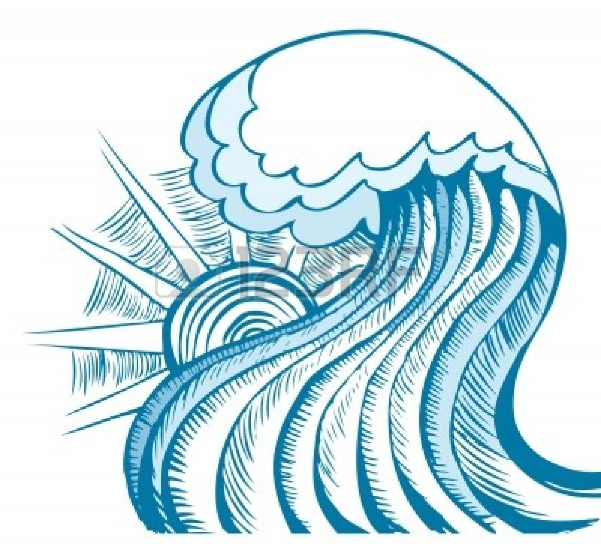 Monster Waves clipart tidal energy #3