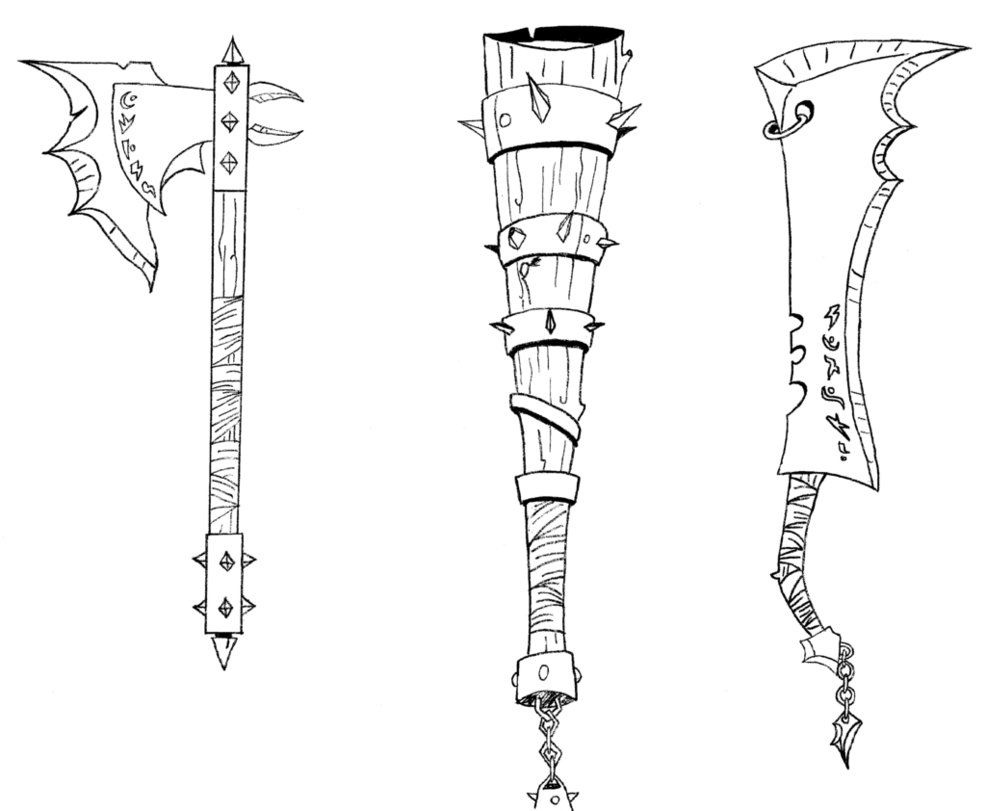 Drawn weapon Orc by DeviantArt Godforoth Weapons