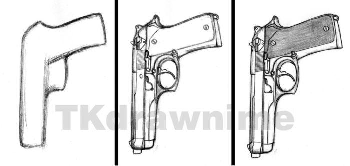 Drawn weapon TKdrawnime How Draw Weapons tutorial