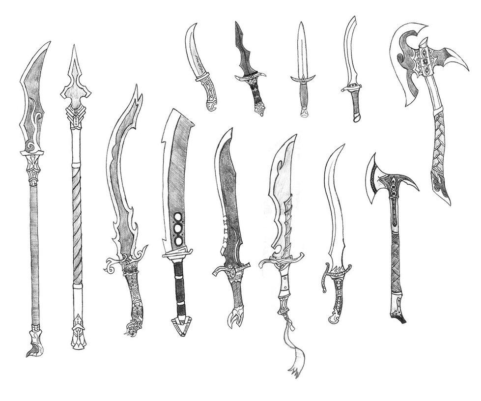 Drawn weapon By Bladedog deviantART on deviantART