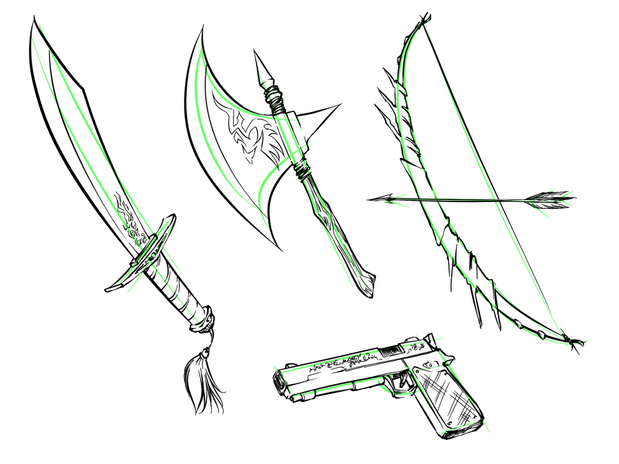 Drawn weapon Weapons fantasy and Anime weapons