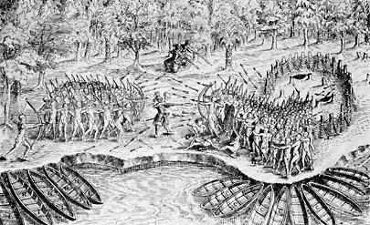 Drawn weapon algonquin Algonquin wars Britian in asissting