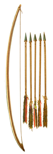 Drawn weapon algonquin Indian Indian Weapons: Bow Arrows