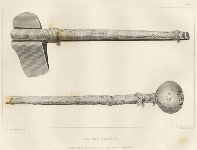 Drawn weapon algonquin Weapons Indian Indian Art Tools