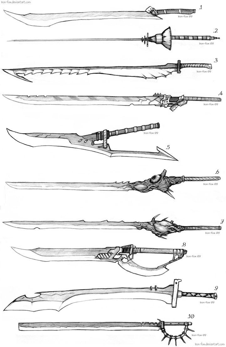 Drawn weapon Best more ANIME about ANIME