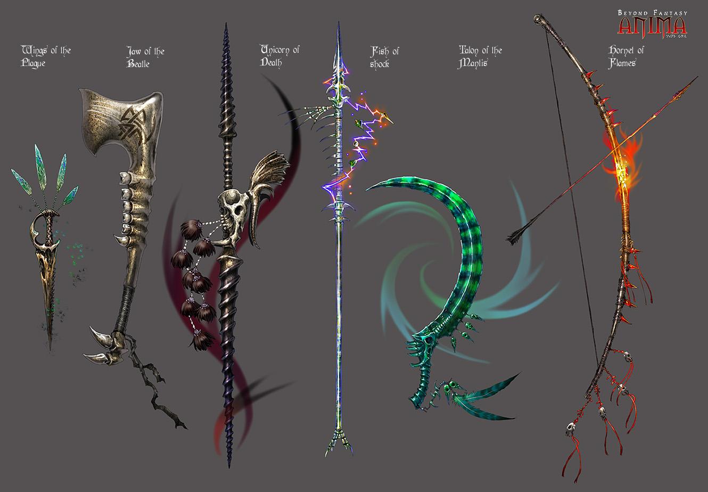 Drawn scythe elemental Bone Wen Anima: on DeviantArt