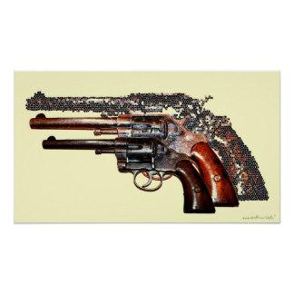 Drawn weapon awsome Gun guns Zazzle poster Posters