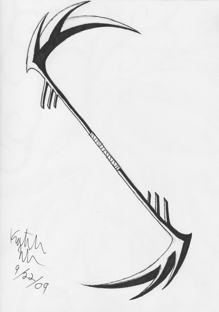 Drawn scythe epic Sided double ~ L&L best