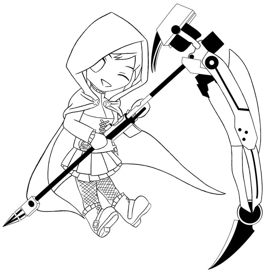 Drawn weapon chibi ALEXACEDEATH Ruby Chibi Chibi ALEXACEDEATH