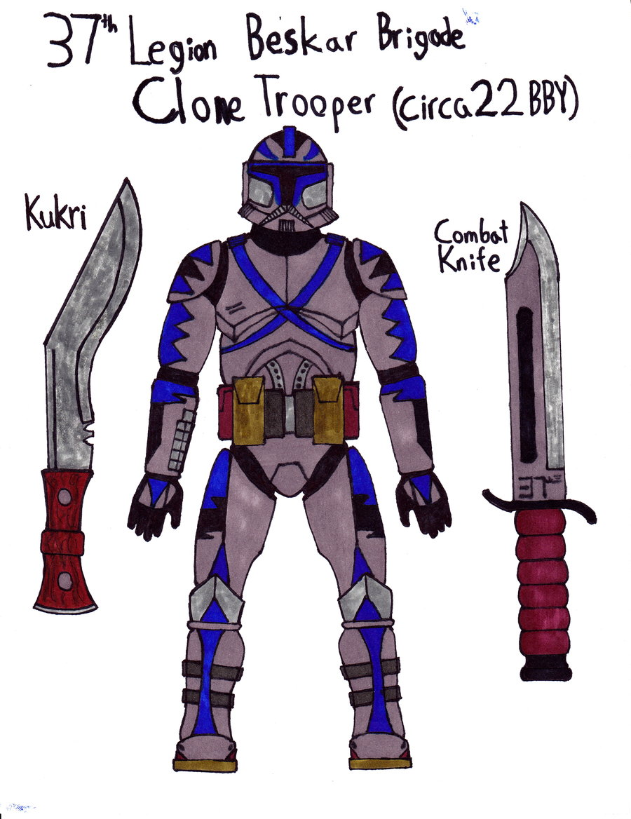 Drawn weapon clone By Beskar  37th Trooper