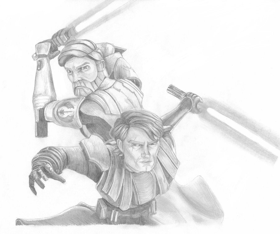 Drawn weapon clone Swfan444 Obi The Clone by