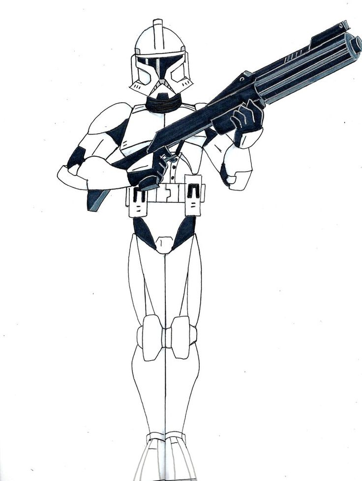 Drawn weapon clone Pinterest best Clone Trooper Star