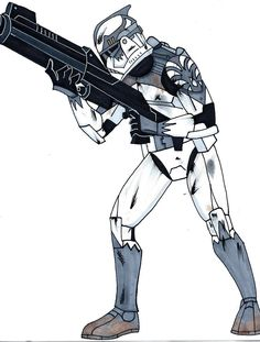 Drawn weapon clone DeviantArt n Wolffepack Trooper wars