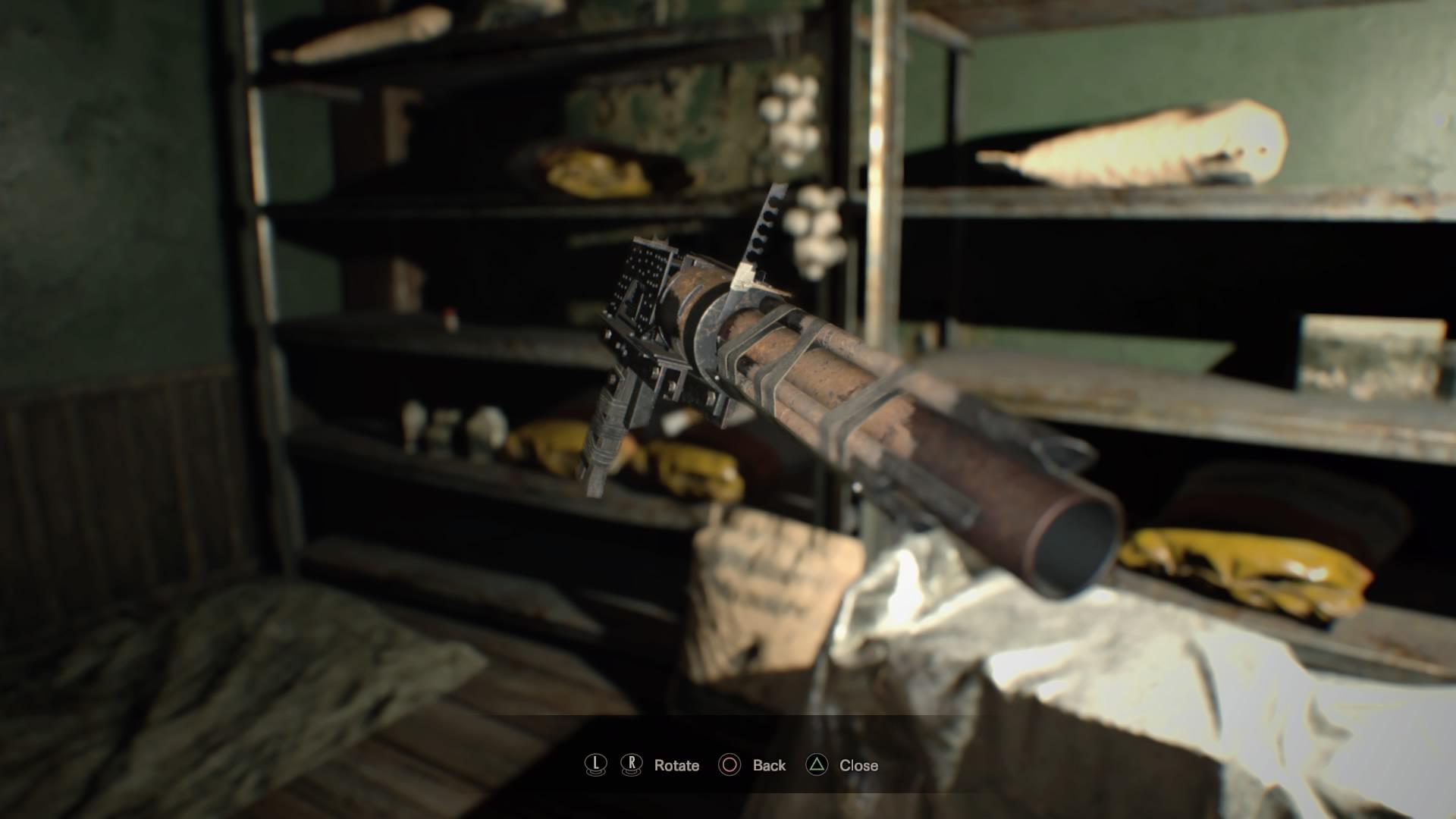 Drawn weapon coin gun Resident Biohazard Guide Launcher Locations
