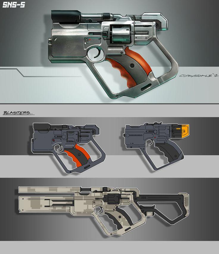 Drawn weapon coin gun By deviantART #conceptart Guns about