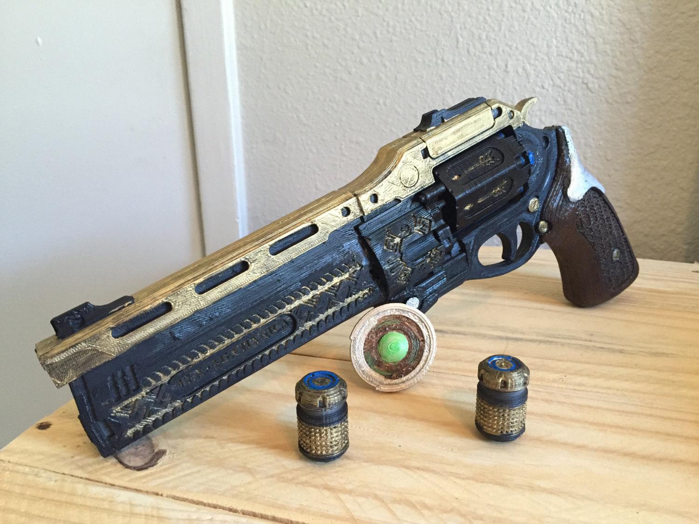 Drawn weapon coin gun Word scale BONUS Last Etsy