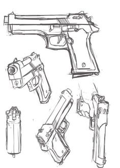 Drawn weapon coin gun Pinterest Drawing Photo Drawings Draw