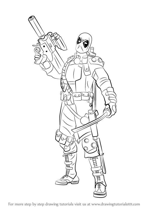Drawn weapon deadpool game By to to Gun How