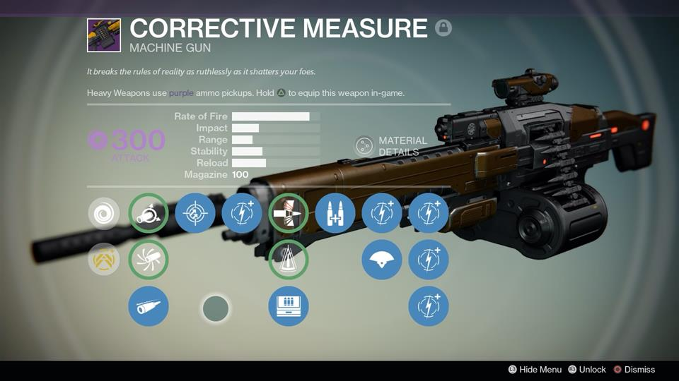 Drawn weapon destiny The Measure Legendary to Gun