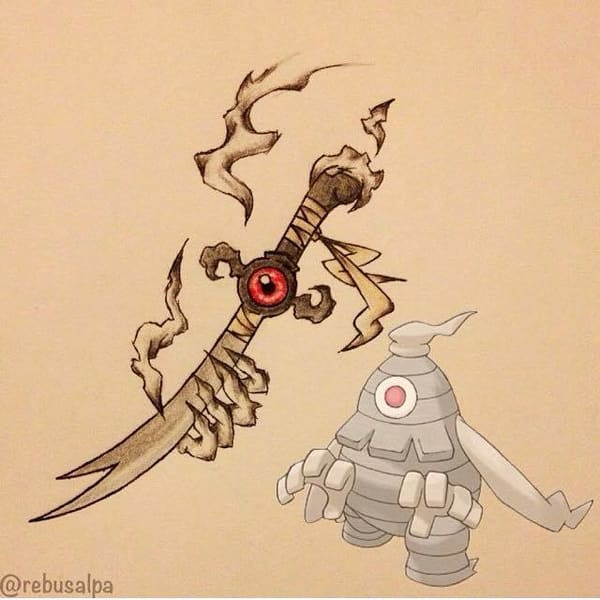 Drawn weapon different From this We this Art!