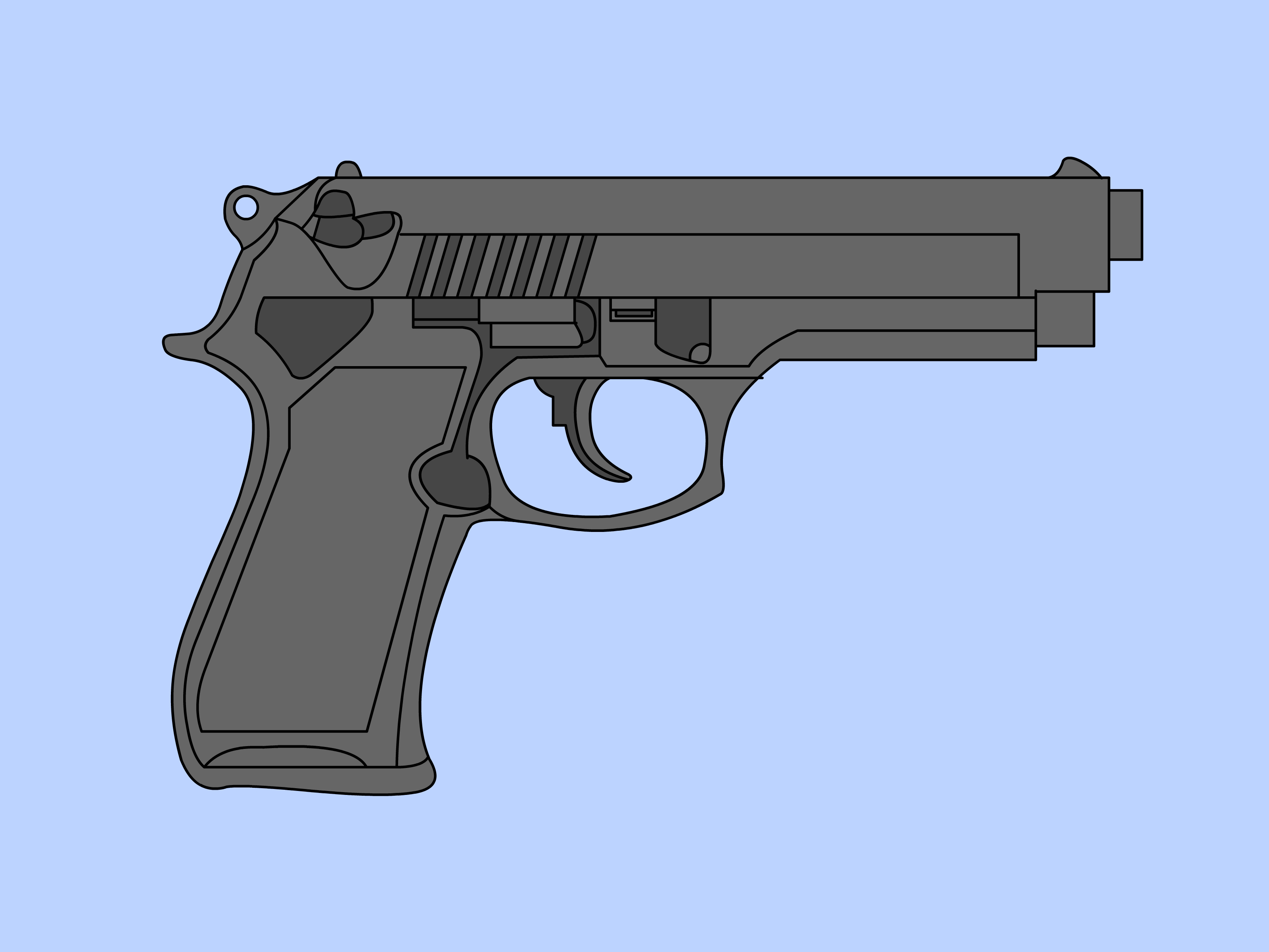 Drawn weapon hand gun Gun: 6 Pictures) a wikiHow