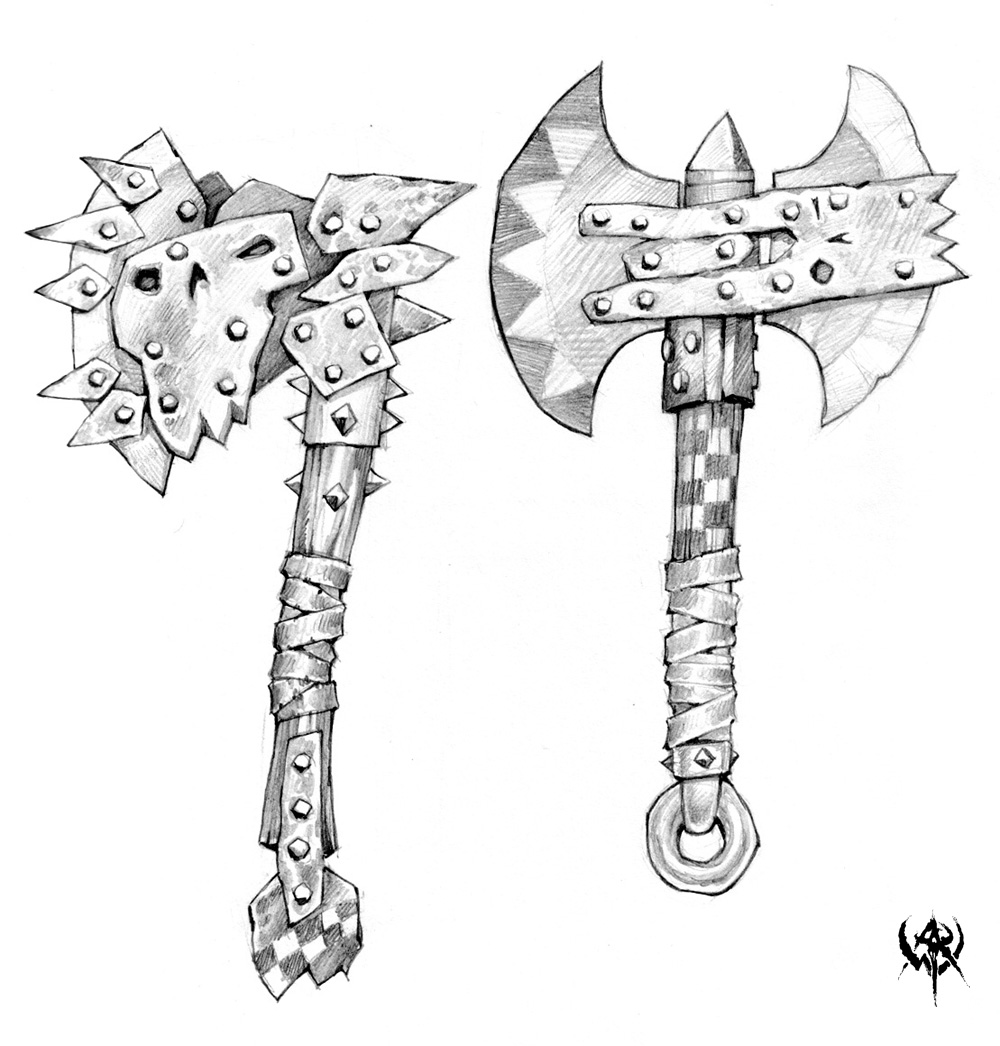 Drawn orc axe AXE/Топор  Weapons images ®