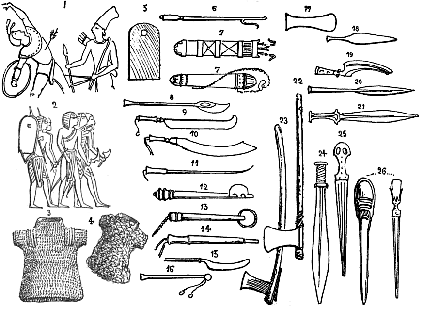 Drawn weapon historical Thebes images Drawing 19 showing