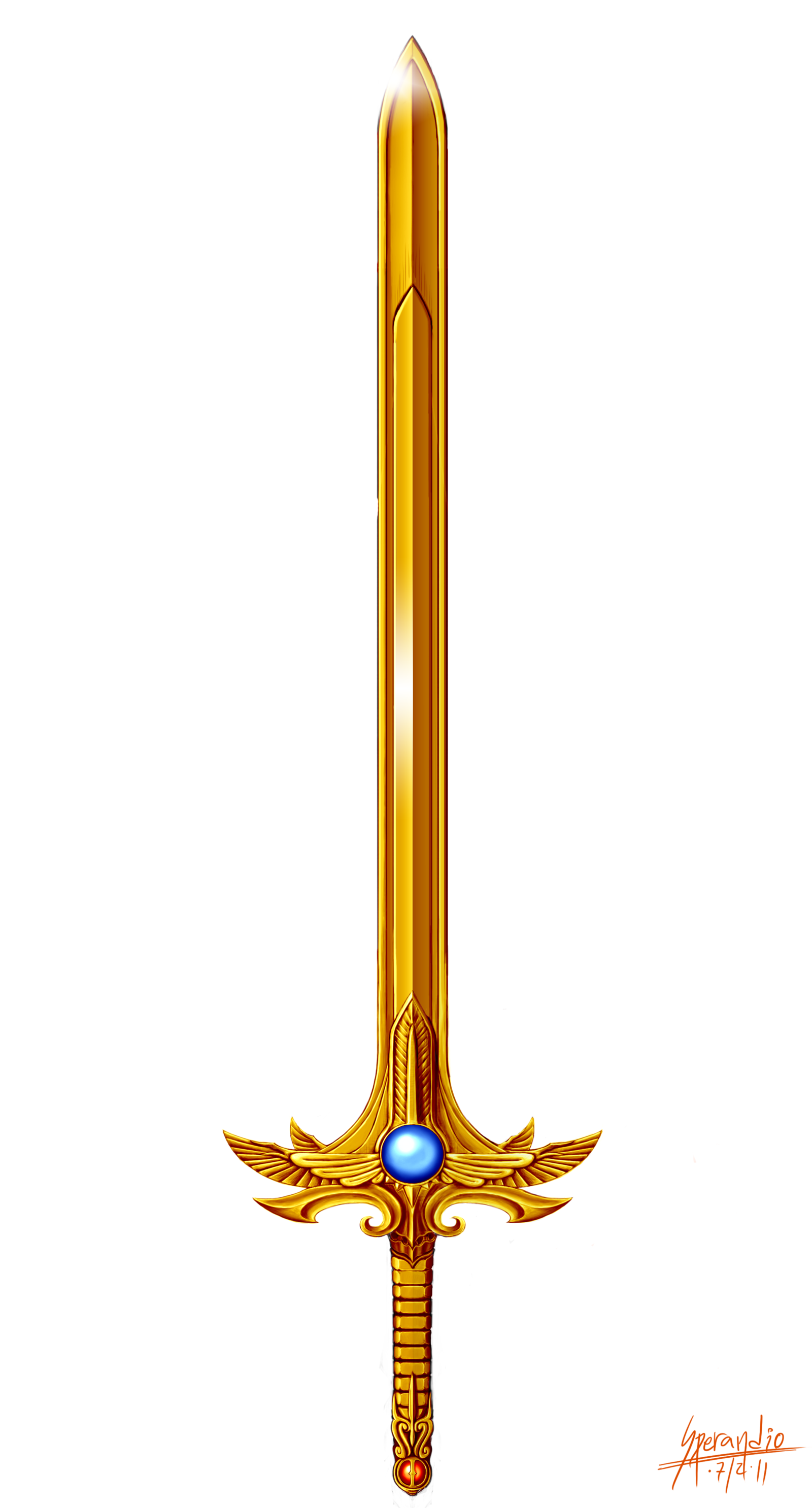 Drawn weapon legendary Golden by by Sacred DeviantArt