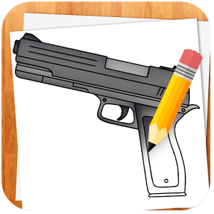 Drawn weapon made Android Weapons Cover to Play