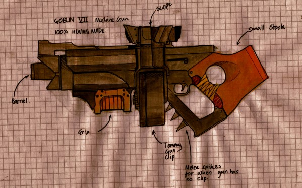 Drawn weapon made Drawn A Weapon! Weapon! A
