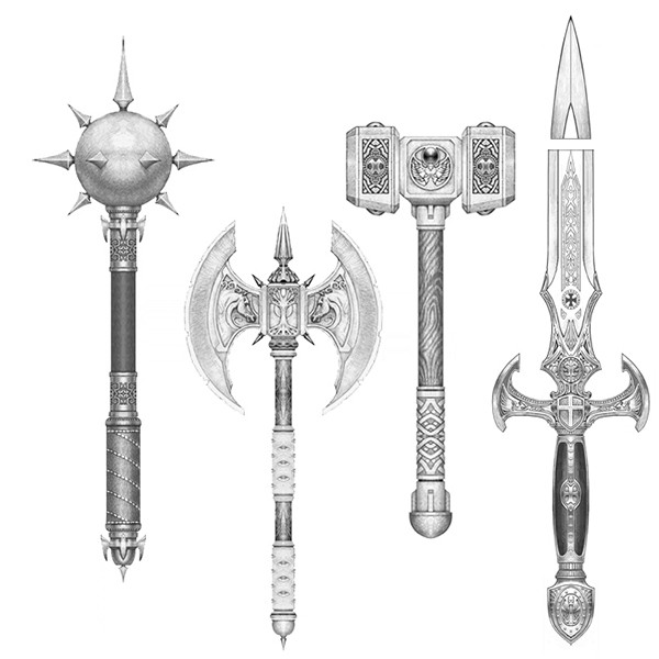 Drawn weapon medieval Concept Chest medieval fantasy