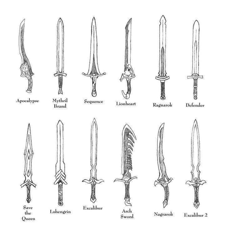 Drawn weapon medieval On 9 about of Weapons
