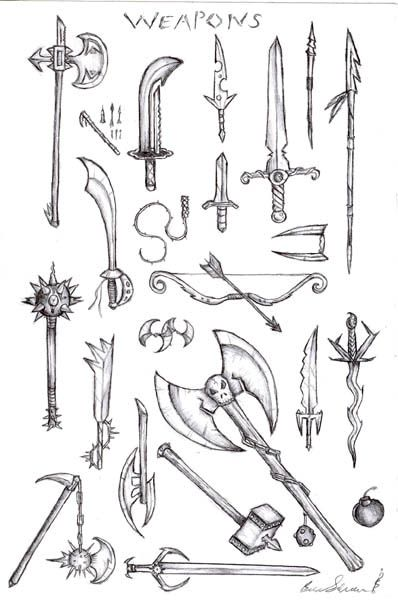 Drawn weapon medieval Pinterest 34 weapons design weapon