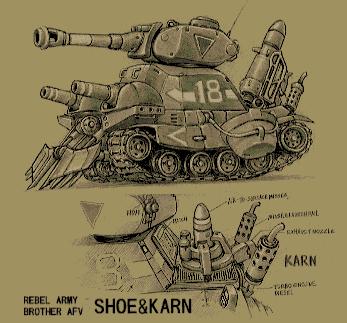 Drawn weapon metal slug The Karn Early difference and