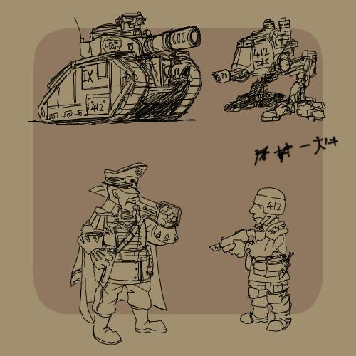 Drawn weapon metal slug Grimdork by 40k Metal ala