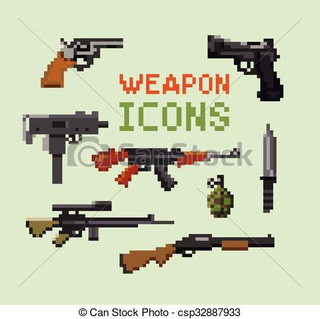 Weapon clipart vector Weapon Icons of of and