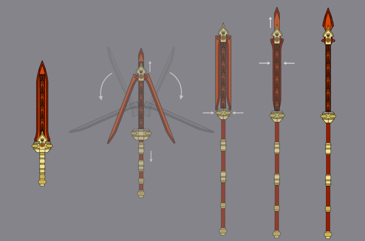 Drawn weapon prototype (Sword/Spear Prototype: Rwby & Prototype:
