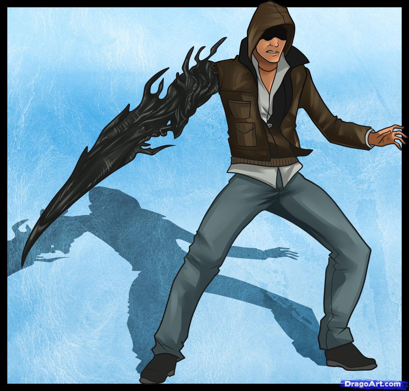 Drawn weapon prototype Mercer how How prototype Alex