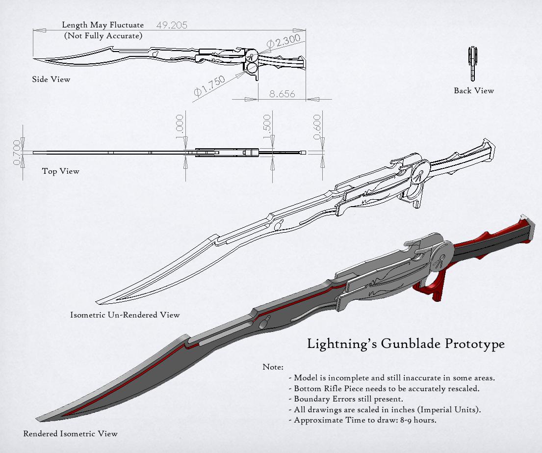 Drawn weapon prototype Tsiaris Lightnings by Lightnings Gunblade