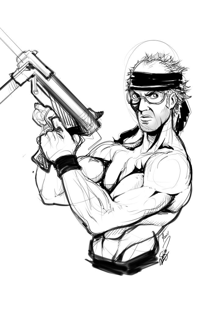 Drawn weapon rambo KeungLee Keith by KeungLee by