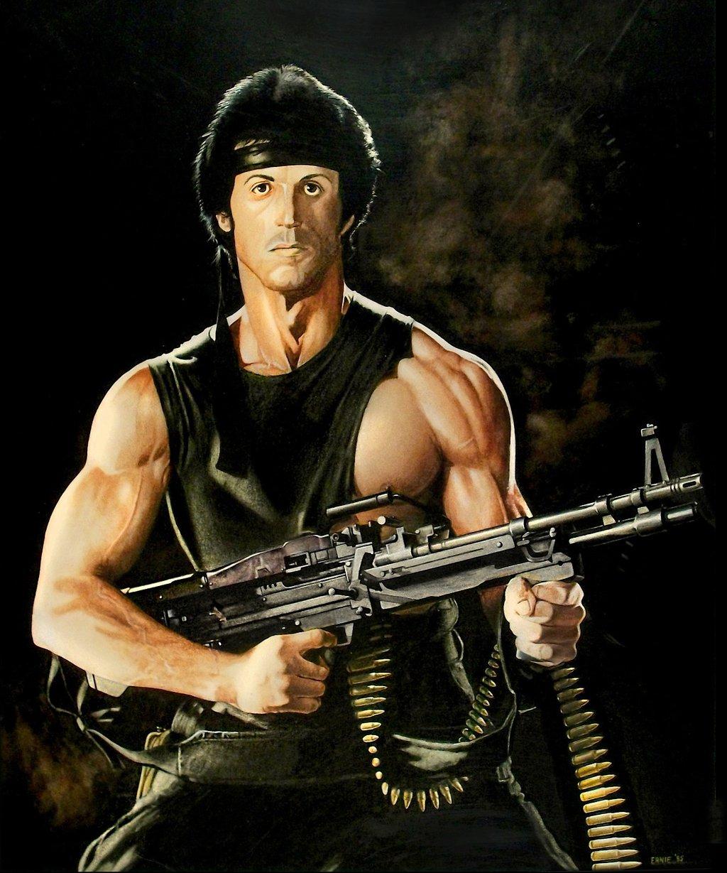 Drawn weapon rambo DeviantArt Ernimator Ernimator Rambo by