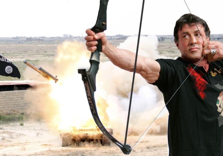 Drawn weapon rambo East vs ISIS Rambo Middle
