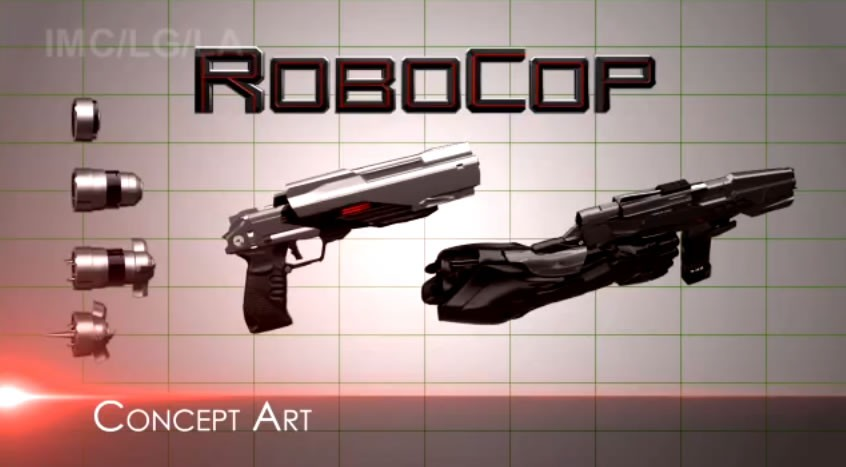 Drawn weapon robocop 2014 Concept robocop Williams ROBOCOP Stories
