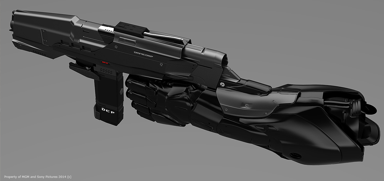 Drawn weapon robocop 2014 2014 of industrial Design Robocop