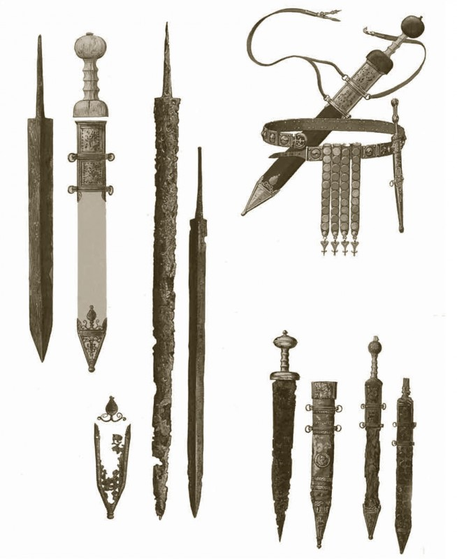 Drawn weapon roman WEAPONS THE war Weapons