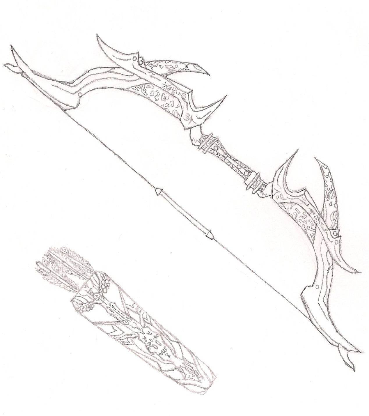 Drawn weapon skyrim By Daedric Daedric FailedxExperimentx13 Sword